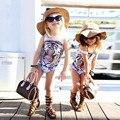 Retail 2016 Baby Girls Swimsuit Tiger Print Top Quality Children Clothing Outerwear Summer Style Kids Girls Swimwear
