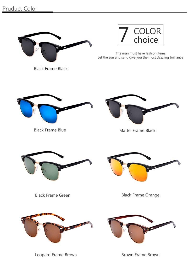 LOPERT Rivet Classic Brand Designer Unisex Polarized Sunglasses