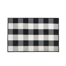 Black and White Buffalo Check/Plaid Rug Indoor Anti-Skid Doormat Cozy Floor Mat Non-Slip Smooth Velvet Fabric Kitchen Rug Mat цена 2017