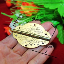 10Pcs 2014 Rushed Top Fasion 50 * 36mm 2 Inch Copper Hinge Printing Flat Oval Palette Gift