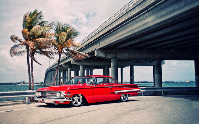 P0538 Hot Sell CHEVY IMPALA CHEVROLET RETRO CAR Wallpaper Poster Wall Art  For Home Decor Canvas
