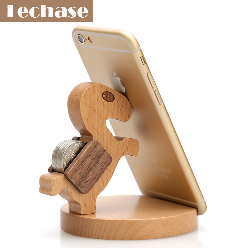 Techase Životinjski dizajn Pribor za telefon Drveni moblie Držač - Oprema i rezervni dijelovi za mobitele
