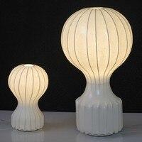 Теплые и творческих спальня кровать, настольная лампа книги ткань настольная лампа шелк лампы горячий воздух воздушный шар настольные ламп