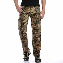 Men Pants 2017 New Arrival Men's Fashion Camouflage Cargo Pants Casual Combat Trousers Male Big Size 40 Multi-pockets Baggy Pant