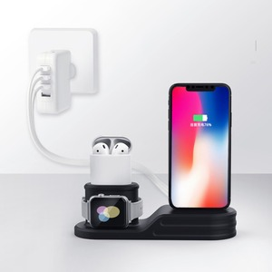 Image 5 - 3in1 Opladen Stand Voor Apple Horloge Charger Station Dock Voor Airpods Iphone 11 Pro Max Xr X 10 9 8 7 6 Iwatch Serie 6 5 4 3 Se