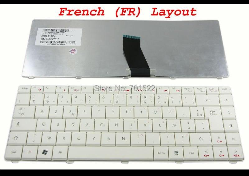 Клавиатура для ноутбука acer Aspire 4332 4732 4732Z, eMachines D525 D725 шлюз NV4800 белое французкое столовое кресло из FR AZERTY клавир 9J. N1R82. A0F