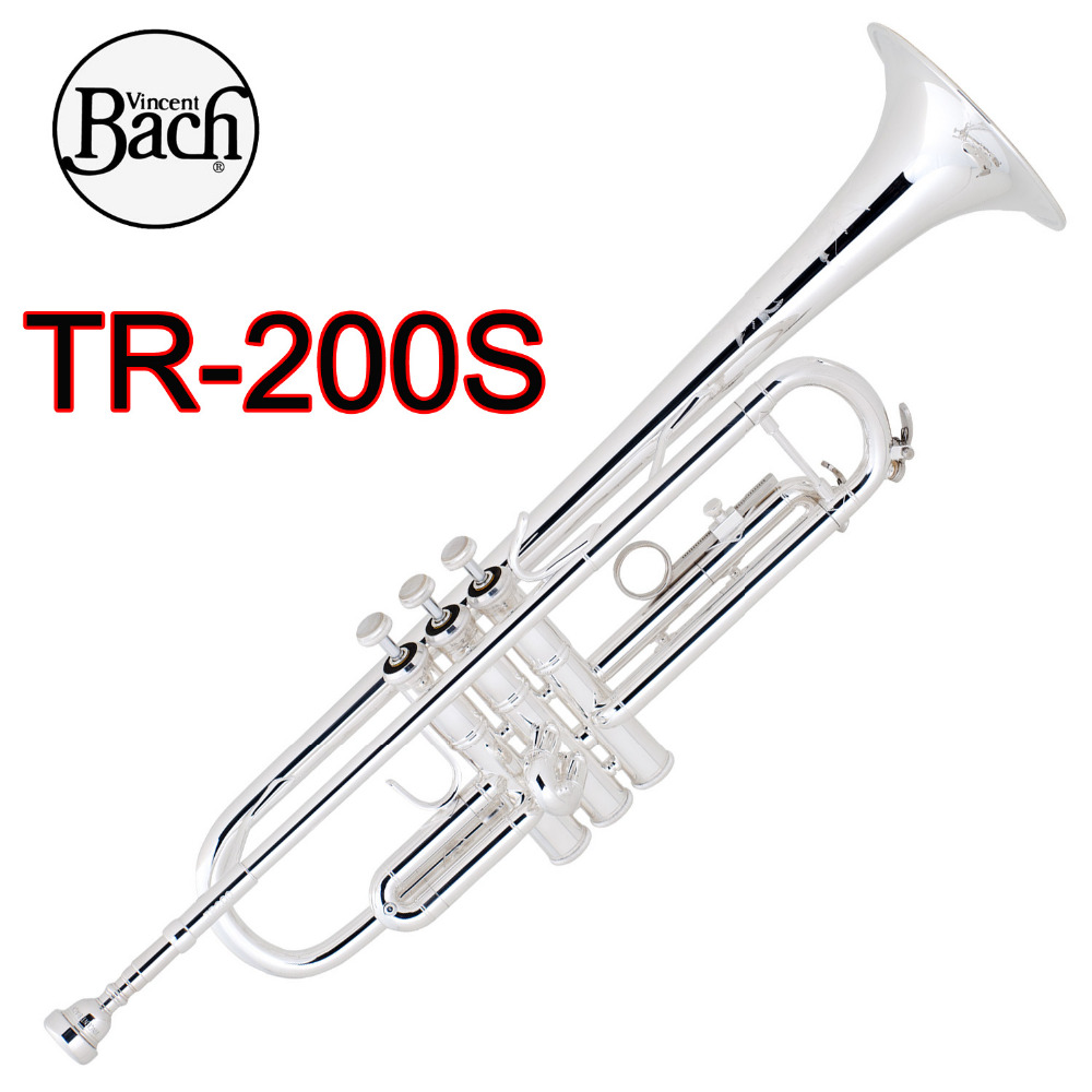 Trumpet Brass Instruments Hearty Bach Stradivarius Intermediate Bb Trumpet Tr-200s Silver Plated Trompete Instrumentos Musicales Profesionales Case Mouthpiece 100% Original
