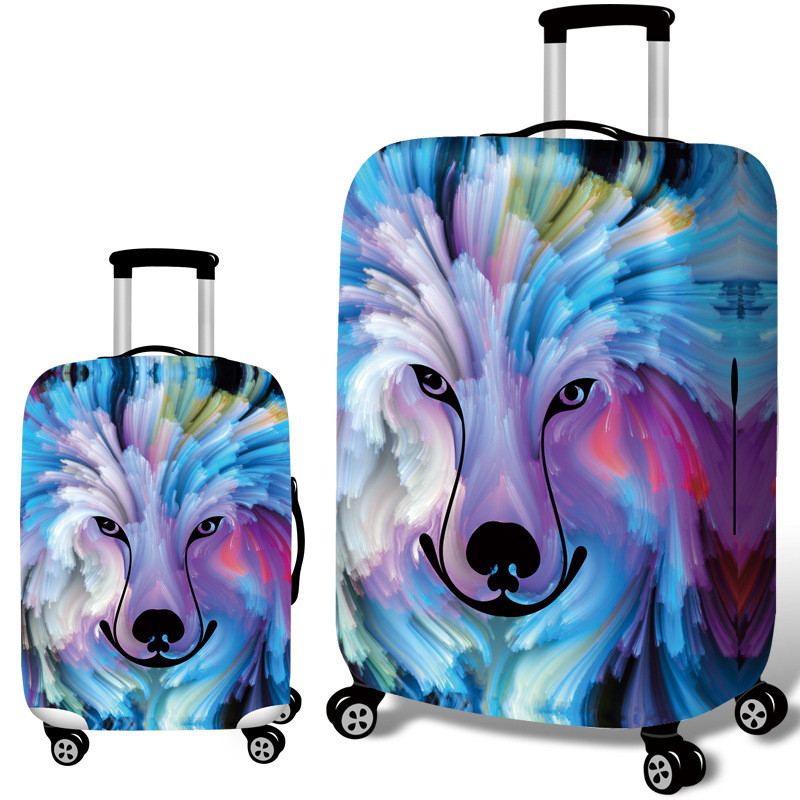 Elastic Cartoon 3D Printing Luggage Protective Cover Women's Men's Dust Rain Bag Cases Travel Trunk Suitcase Accessory Product