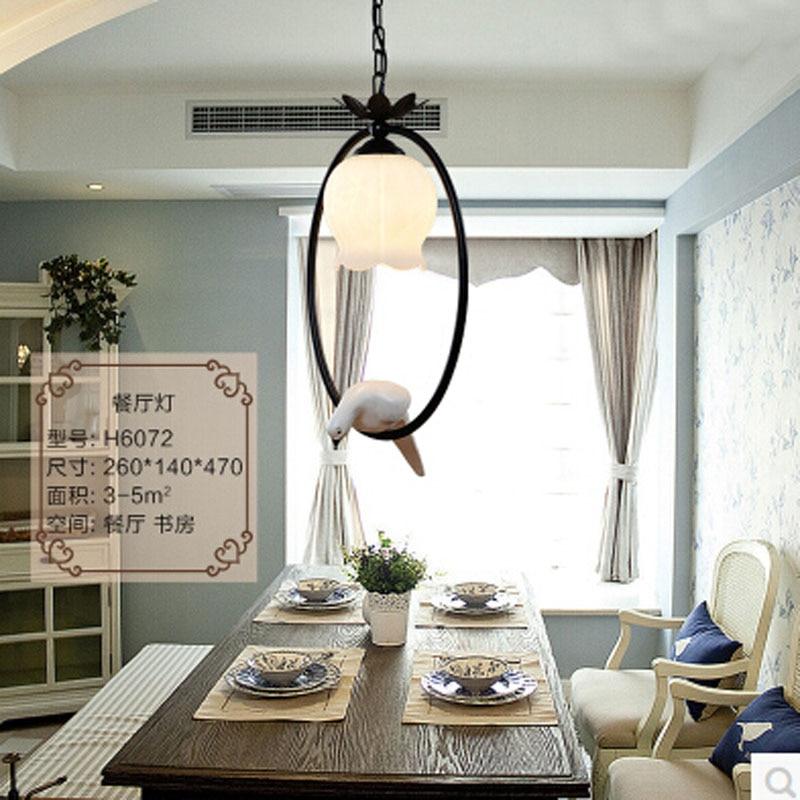 2017 New Hot vintage bird bedroom lamp LED pendant lights ...