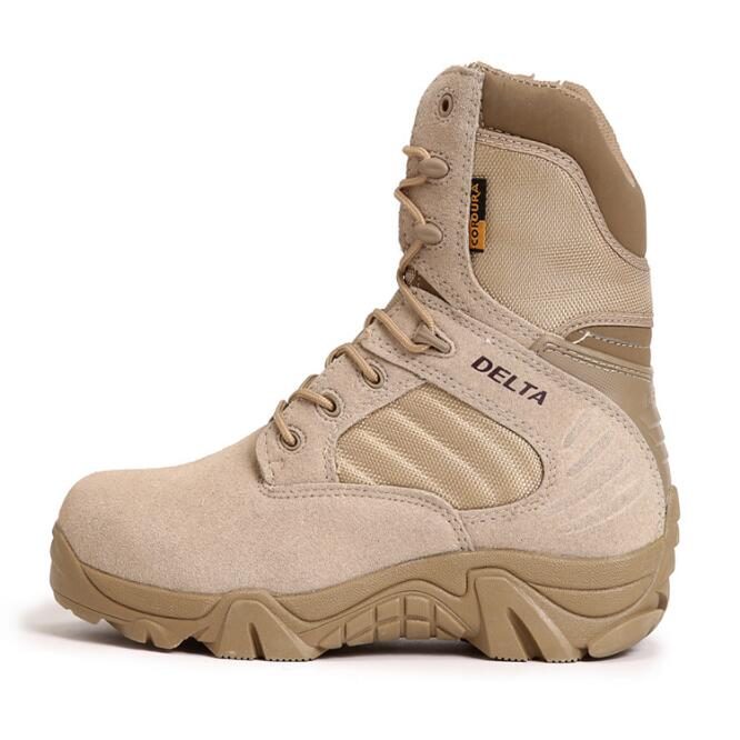 High And Low Military Boots Men Women Shoes Commando Combat  Desert Tactical Land Boots Climbing Boots Hiking Boots DSX07 new outdoor hiking boots special forces tactical boots men s desert combat boots size 39 40 41 42 43 44 45