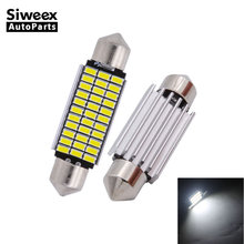 2 Pcs 31MM 36MM 39MM 41MM Car LED C5W Interior Lights Festoon Dome Door Lamp 18 27 30 33 SMD 3014 Canbus Bulbs White 12V DC