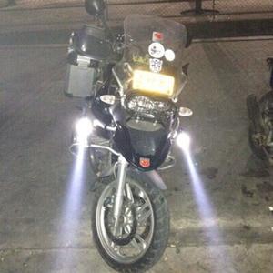 Image 5 - Huiermeimi farol de moto 125w, 2 peças, luz auxiliar, u5, acessórios para moto e rbike, 12v ponto de cabeça luzes