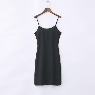 Condole belt skirt inside take render show thin slip loose adjustable long vest -006