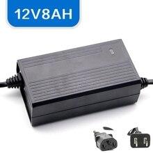 12 V 8AH inteligentna ładowarka do akumulatora dla opryskiwacz elektryczny akumulator żelowy ołowiowo kwasowy samochód zabawka motocykl baterii 12 V zasilacz 1.0 1.2A 220 V AC