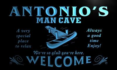 x0100-tm Antonios Man Cave Hideaway Custom Personalized Name Neon Sign Wholesale Dropshipping On/Off Switch 7 Colors DHL