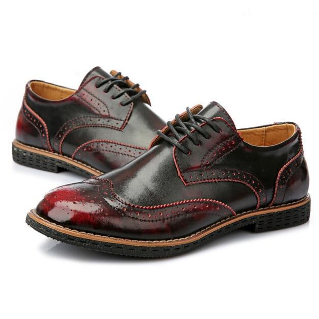 c1732b566 Nueva Llegada 2015 de Cuero de Geniune Americano Oxfords Estilo Europeo  Zapatos Casual Hombres Zapatos de