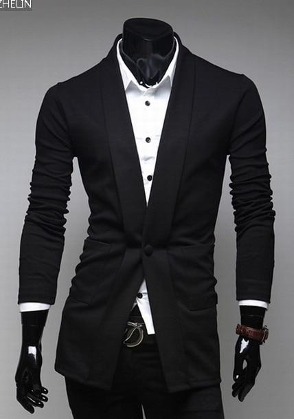 Горячая Продажа 2016 мужская бренд уникальный дизайн карман в юбке пиджак мужской Slim Fit Случайные хлопка небольшая кнопка костюм куртки