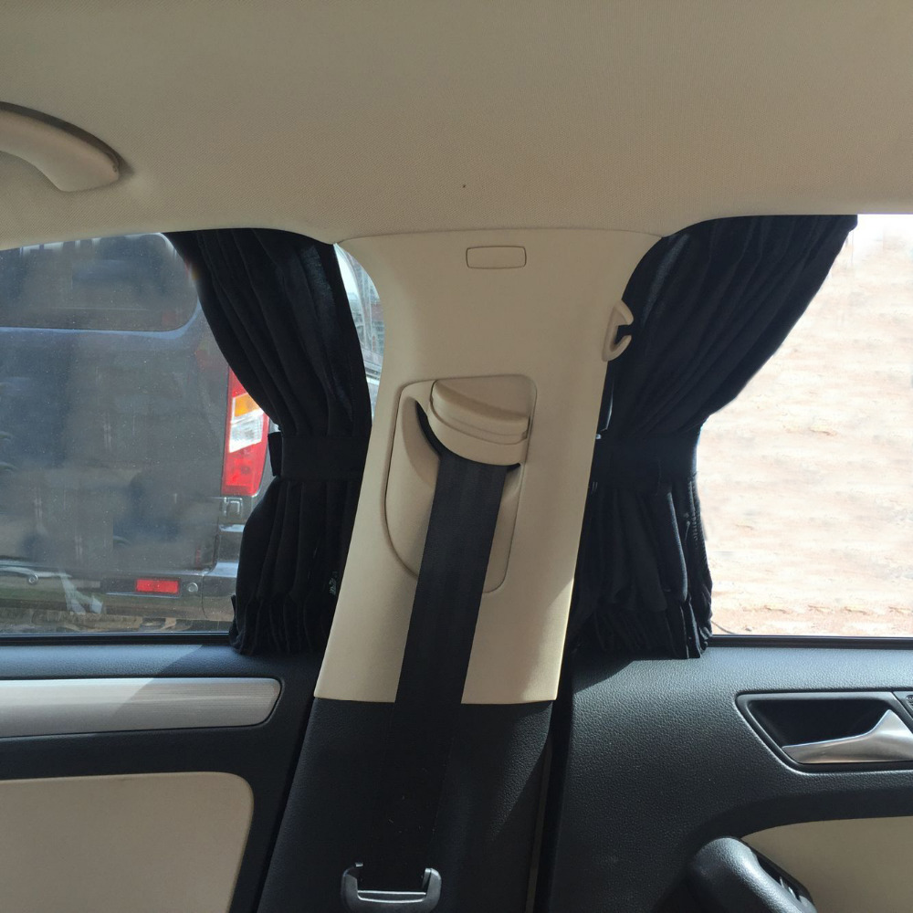 2pcs 70 39cm Car Window Curtain Uv Sunshade Visor Blinds