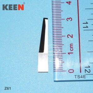 Hoja de carburo de tungsteno de acero de fibra de corte para varios materiales, como cartón, material de junta, goma de espuma, corcho Z61