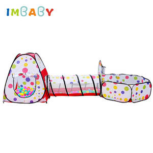 Ball-Pool Tent House Toys Pit Kids Child IMBABY Ce for Tipi Pool-Ball Crawling Tunnel-Ocean