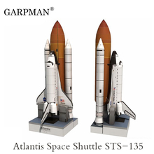 34cm 1:150 Space Shuttle Atlantis Paper Model Puzzle Manual Spaceflight Rocket DIY Paper Art Toy