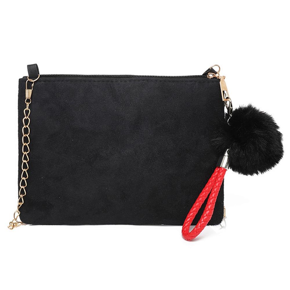 Messenger-Bag Clutch-Shoulder-Bag Suede Women Solid-Color Feminina for Bolsa Torebki