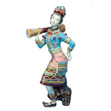 Chinese Female Statue Marvel Ceramic Dolls Fine Sculpture Arts of Antique Collectibles Porcelain Angel Figurines for Home Decor