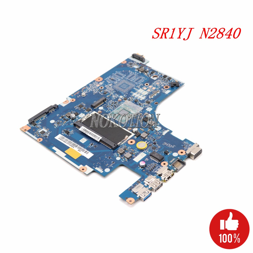 NOKOTION ACLU9 ACLU0 NM-A311 Laptop Motherboard For lenovo Ideapad G50-30 Main Board SR1W2 N3530 CPU DDR3L full works hot in russian g50 30 laptop motherboard fit for lenovo aclu9 aclu0 nm a311 main board ddr3 with processor on board