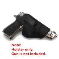 Surwish Cattlehide Pistol Sleeve Soft Elastic Holster for Nerf/for Airsoft Games Black