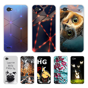 Image 1 - For Capa LG Q6 Case Cover Silicon Phone For Funda LG Q6A Q6 alpha M700 Q6 Plus Back Cover Case Soft TPU For LG Q6 3D Cute Flower