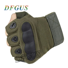 Фотография Tactical Gloves Military Army Paintball Airsoft Combat Anti-Skid Carbon Knuckle Half Finger Gloves