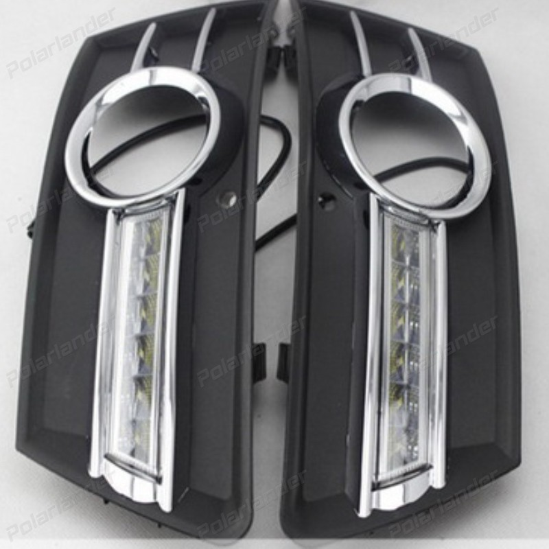 1 set Waterproof ABS Car daytime LED light Auto Daylight Car Styling DRL Daytime Running Lights for V/olkswagen CC 2009-2013 2pcs set car styling auto led drl daylight car daytime running light set for subaru wrx 2013 2014 2015