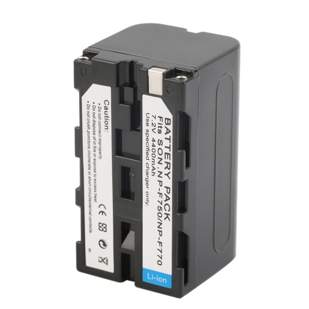 7.2V 4400MAH Replacement Li-Ion Battery Camcorder Battery For Sony NP-F750 / 770 / 730 Camera Drop Shipping 3 7v 1450mah np bx1 compatible li ion camera battery for sony