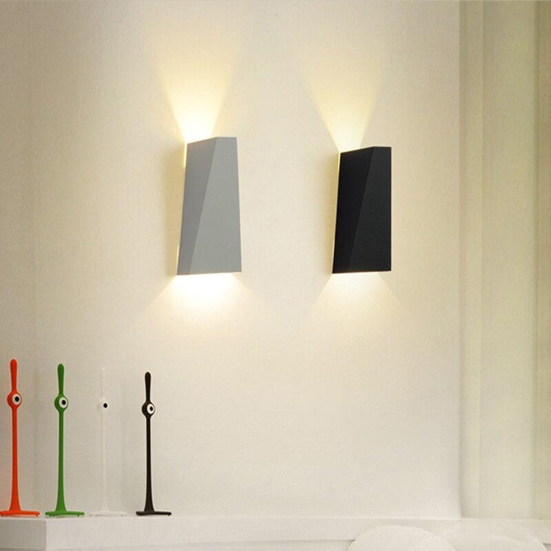 Mordern Led Wall Light 10w Dual Head Geometry Lamp Sconces For Hall Bedroom Corridor Restroom Bathroom Reading