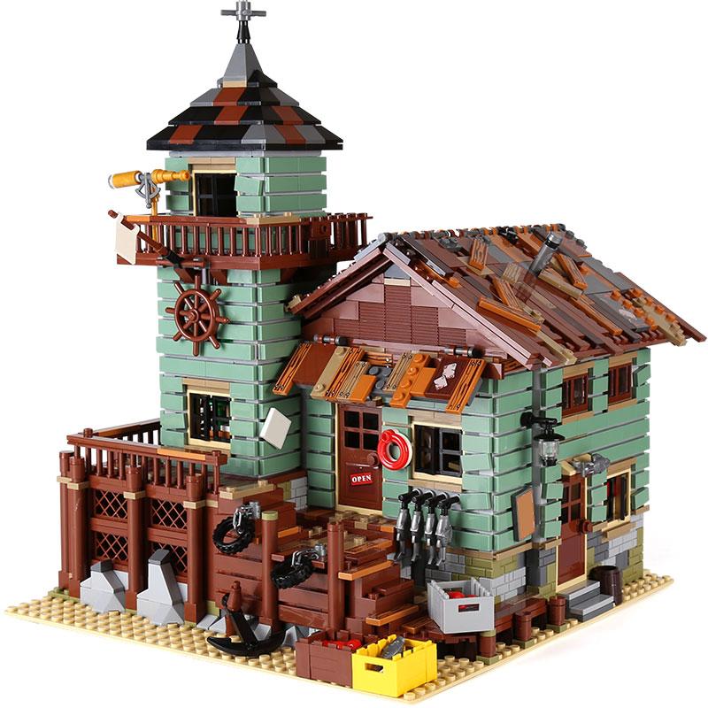 Idées créateur MOC série ancien magasin de pêche ensemble Compatible legoingLYs 21310 blocs de construction briques maison jouets enfant cadeaux de noël - 6