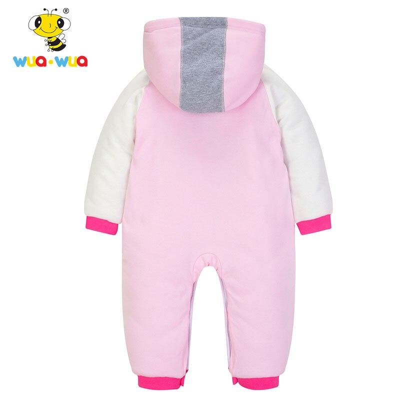 377e78938 Wua Wua Winter Warm Fleece Baby Boy Rompe Thicken Cotton Jumpsuits ...