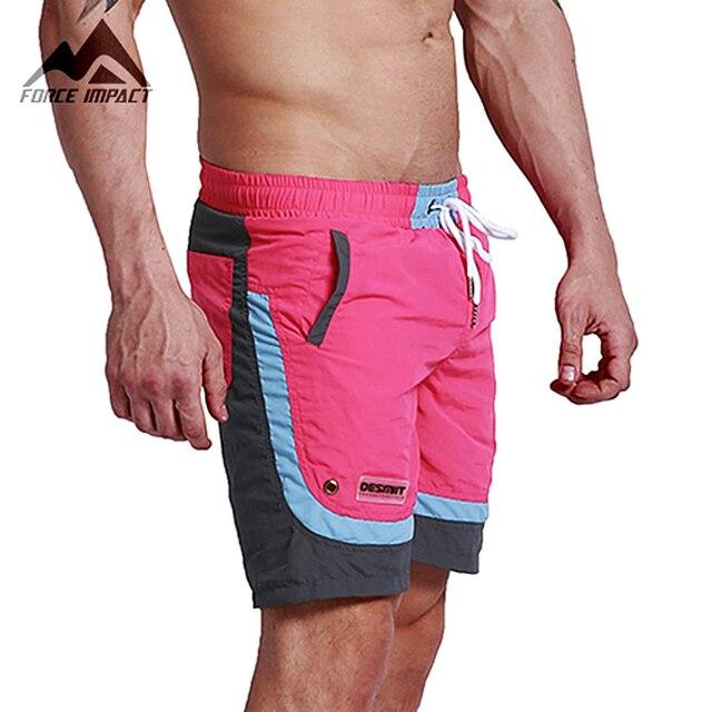 Desmiit Мода Лето Sexy Beach Шорты мужские Отдых На Море Мужчины Совета Шорты Лоскутная Fast Dry Эластичный Пояс Шорты DT63