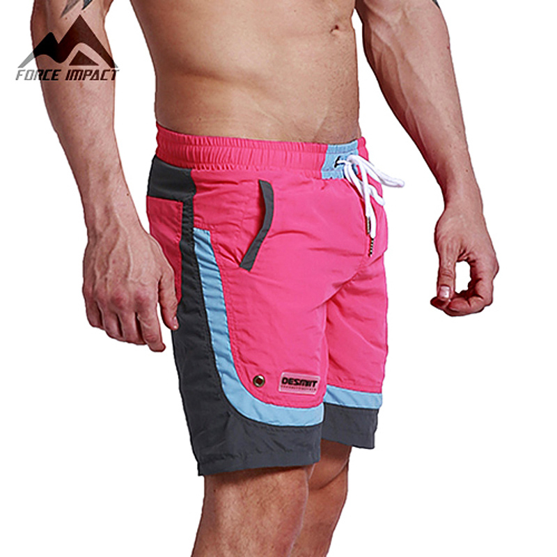 2674672e4b Desmiit Fashion Summer Sexy Beach Men's Shorts Leisure Sea Men Board Shorts  Patchwork Fast Dry Elastic Waist Shorts DT63-in Shorts from Men's Clothing  & ...