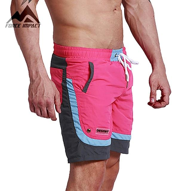 Desmiit Fashion Summer Sexy Beach Men's Shorts Leisure Sea Men Board Shorts Patchwork Fast Dry Elastic Waist Shorts DT63