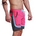 Desmiit sexy summer fashion beach hombres de mar de ocio hombres pantalones cortos patchwork cintura elástica pantalones cortos de secado rápido dt63