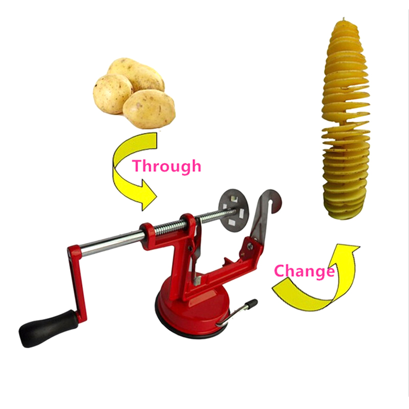High-quality Potato Slicer Stainless Steel Manual Potato Machine Accessories Tornado Strange New Home Kitchen Cooking Tools