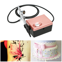 Basic Airbrush System Professional Art Beauty Face Painting Makeup Cosmetic Starter Kit with Mini Air Compressor