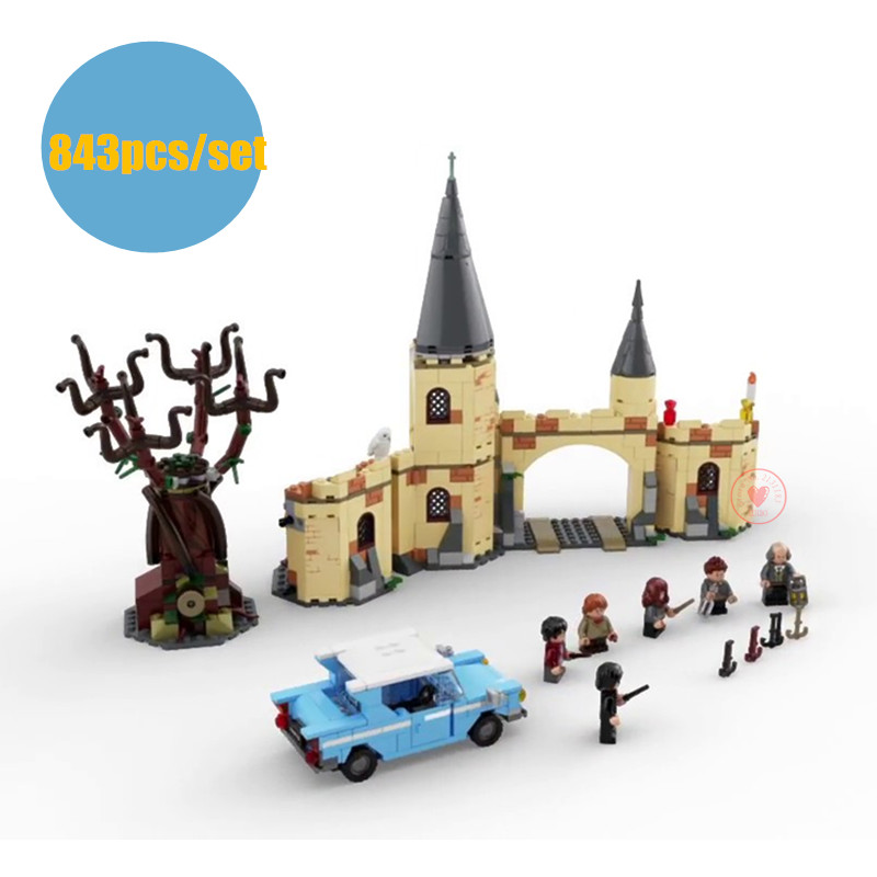 New Harry Movie fit legoings Harry Potter Hogwarts Whomping Willow Building Blocks bricks Kids 75953 diy