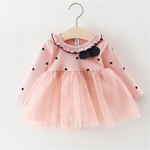 1 Year Girl Baby Birthday Dress White Wedding Pink Clothes Prom Dress Striped Cotton Kids Baby Easter Dresses For Party Wedding цена 2017