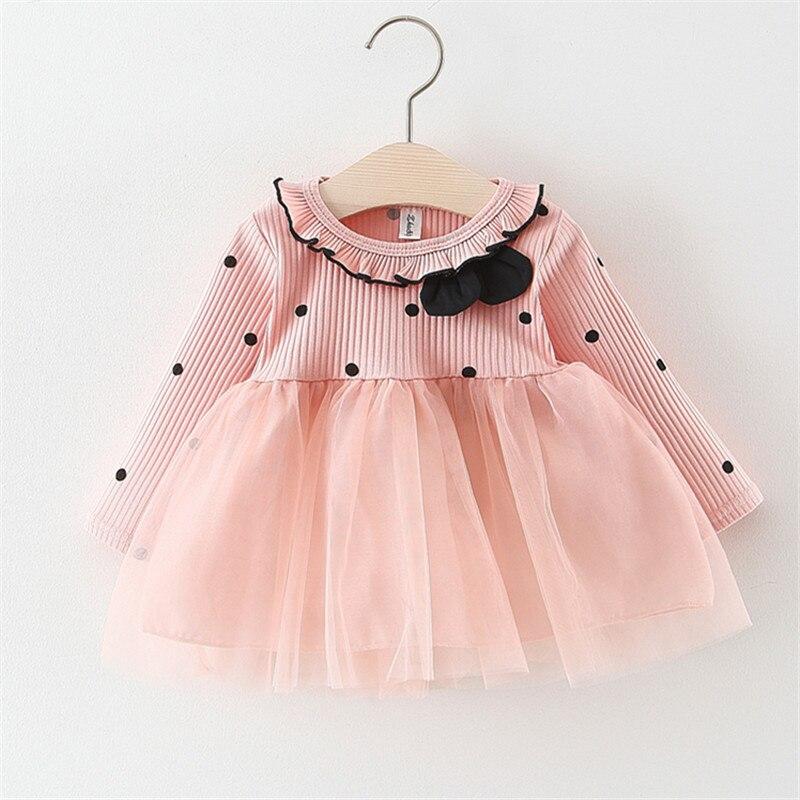 1 Jahr Mädchen Baby Geburtstag Kleid Weiß Hochzeit Rosa Kleidung Prom Kleid Striped Baumwolle Kinder Baby Ostern Kleider Für Party Hochzeit