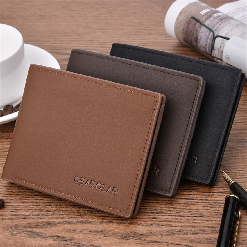 Vintage 2019 Horizontal Bag Coin Bag Men Wallets Thin Mens Wallet Short Male Money Purses New Design Top Slim Man Carteira Small