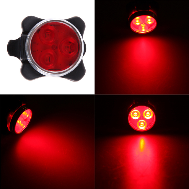 2017 Bicycle Light Front Led Bike Taillight Head Rear Rechargeable