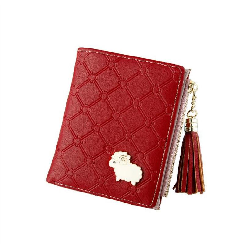 Women 39 s multi function short change pocket Korean version buckle wallet women cute buckle simple mini wallet card package in Wallets from Luggage amp Bags