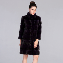 AAAReal Imported Mink Fur Coat for Women Warm and Thick Luxury Long Mink Fur Jackets Stand Collar Natural Mink Fur Parka