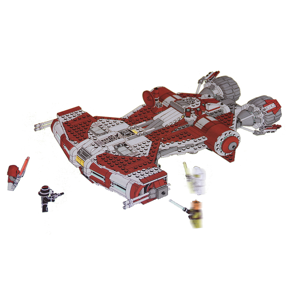 Étoiles série le Jedi Defender-classe Cruiser Modèle Briques de Construction legoinglys 75025 Classique enseignement Jouet pour enfants